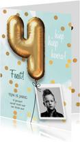 Uitnodiging verjaardag jongen 4 jaar
