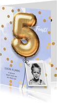 Uitnodiging verjaardag jongen 5 jaar