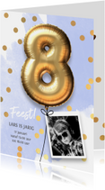 Uitnodiging verjaardag jongen 8 jaar