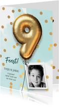 Uitnodiging verjaardag jongen 9 jaar