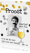 Uitnodiging verjaardag man biertje