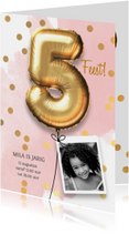 Uitnodiging verjaardag meisje 5 jaar