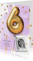 Uitnodiging verjaardag meisje 6 jaar