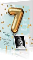 Uitnodiging verjaardag meisje 7 jaar