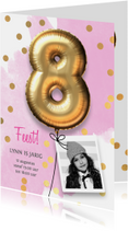 Uitnodiging verjaardag meisje 8 jaar
