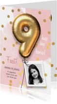 Uitnodiging verjaardag meisje 9 jaar