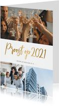Uitnodiging voor een zakelijke nieuwjaarsborrel met foto's