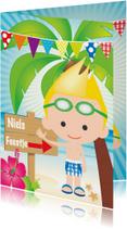 Uitnodiging zwemfeestje jongetje