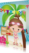 Uitnodiging zwemfeestje meisje