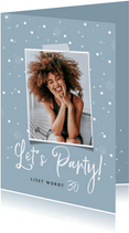 Uitnodigingskaart surprise confetti foto stijlvol