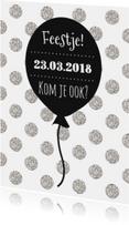 Uitnodigingskaartje Ballon - WW