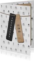 Umzugskarte Häuschen illustriert