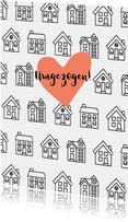 Umzugskarte Häuser schwarzweiß