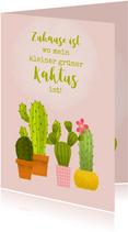 Umzugskarte Kleiner grüner Kaktus
