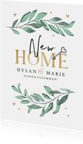Umzugskarte New Home Zweige