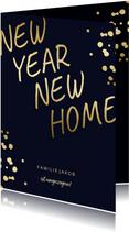 Umzugskarte New year - New home