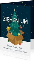 Umzugskarte Weihnachsbaum & Karton