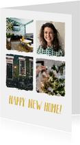 Umzugskarte zu Weihnachten und Neujahr