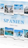 Urlaubskarte Aquarelllook mit vielen Fotos