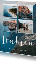 Urlaubskarte Fotocollage 4 Fotos und anpassbares Land
