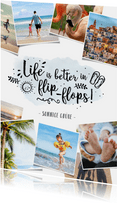 Urlaubskarte Fotocollage 'Life is better in flip-flops'