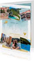 Urlaubskarte Fotocollage mit anpassbarem Land