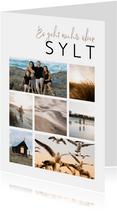Urlaubskarte Fotocollage Sylt