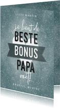 Vaderdag kaart beste bonus papa met hartje en banner