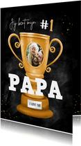 Vaderdag kaart beste papa nummer 1 beker foto