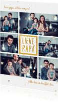 Vaderdagkaart 'lieve papa' met 6 foto's