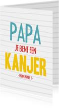 Vaderdagkaart papa is een kanjer