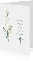 Vaderdagkaart takjes, aanpasbare tekst