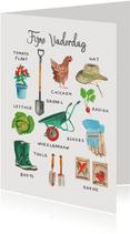Vaderdagkaart tuinieren