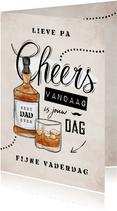 Vaderdagkaart vintage stoer whiskey chill cheers