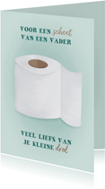 Vaderdagkaart voor een scheet van een vader wc rol