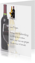 Vaderdagkaart wijnglas