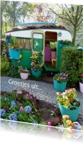Vakantie Fleurige caravan