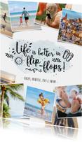 Vakantie fotocollage kaart met polaroids