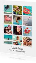 Vakantie Groetjes Instagram kaart