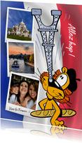 Vakantie Loeki in Frankrijk vlag -A
