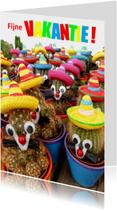 Vakantie vrolijke cactussen