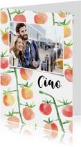 Vakantiegroet Italië met tomaatjes