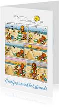 Vakantiegroet strip zonnebrand strand - A