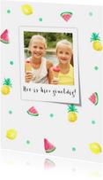 Vakantiegroet summer fruit