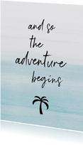 Vakantiekaart adventure palm