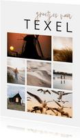 Vakantiekaart fotocollage 7 foto's aanpasbaar