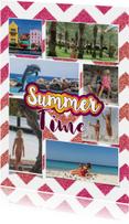 Vakantiekaart hippe en vrolijke foto collage
