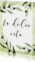 Vakantiekaart La dolce vita