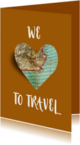 Vakantiekaart Love to travel - SG
