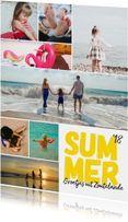 Vakantiekaart - modern met 8 foto's